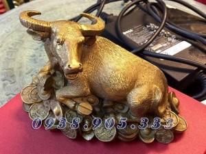 Tượng trâu đồng,Trâu dành cho những người năm sửu,quà tặng 12 con giáp