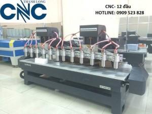 Máy cnc 12 đầu- 2 trục xoay hàng nhập chính hãng signkey
