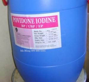Povidone Iodine, diệt khuẩn, thuốc thủy sản, Povidone Iodin, PVP Iodine, PVP Iodin