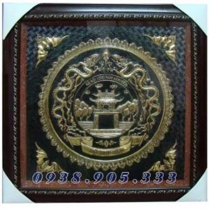 Tranh Chữ Tâm hóa rồng bằng đồng, món quà ý nghĩa cho mọi nhà.