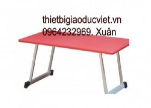 Công ty thiết bị giá dục việt chuyên sản xuất và nhập khẫu bàn ghế mầm non. Ghế mầm non đúc từ nhựa PP có hai kích thước dành cho nhóm trẻ Cao 26cm , dành cho lớp chồi và lớp lá là 28cm Thông thồng ghế mầm non có 4 màu chủ đạo: Đỏ, vàng, xanh lá, xanh dương Bàn mầm non được làm từ nhựa cao cấp PP có kích thước dài 120cm rộng 60cm cao 50cm, Cũng có 4 màu chủ đạo là : Đỏ, vàng, xanh lá, xanh dương,