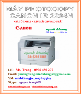 Máy photo Canon ir2204N model 2016