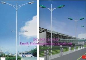 Cột đèn cao áp bát giác km m16*240 11m 10m 7m 8m 6m 9m
