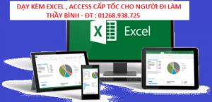 Đào tạo Excel cấp tốc ,đi làm, phỏng vấn, Thi...