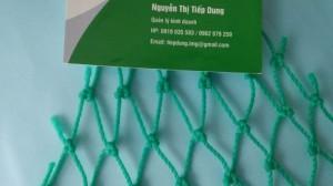Các sân tập golf đều cần phải có lưới bao quanh để chắn bóng golf khi đánh không bị bay ra ngoài. Lưới chắn bóng golf được làm từ sợi nhựa nguyên sinh PE hoặc polyester màu sắc đa dạng: xanh ngọc xanh nhạt, xanh lá.. Khổ lưới 8m, 9m Liên hệ