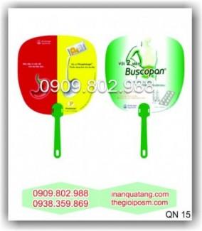 Quạt nhựa quảng cáo,  sản xuất quạt nhựa theo yêu cầu