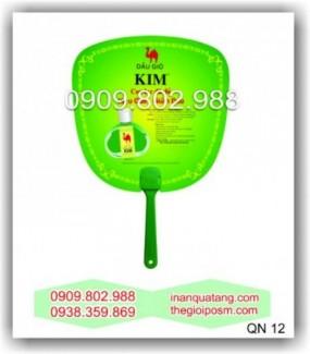 Sản xuất quạt nhựa , nhận in quạt nhựa làm quà tặng khách hàng