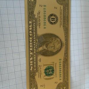 Tờ tiền 2 đô may mắn