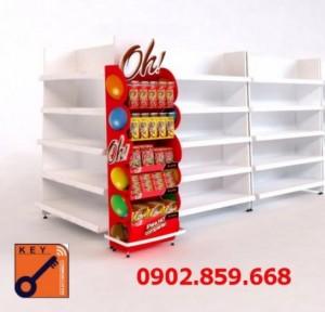 Sản xuất quầy kệ, ụ trưng bày, đầu kệ siêu thị theo yêu cầu giá cực rẻ