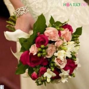 Mẫu Hoa cưới Kiểu Mỹ Đẹp - HCKM006