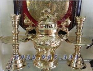 Đỉnh đồng đài loan thờ cúngbộ số  VT89 cao 30cm