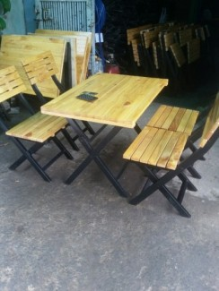 Bàn ghế gỗ quán nhậu quán cafe giá rẻ nhất