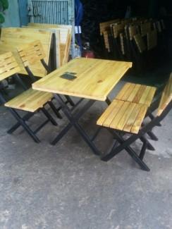 Bàn ghế cafe nhựa đúc ghế bar nhựa mây tre gỗ giá rẻ