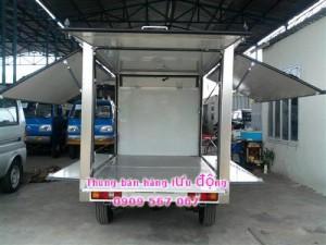 thùng mở bửng từ 4 phía thuận tiện cho buôn bán