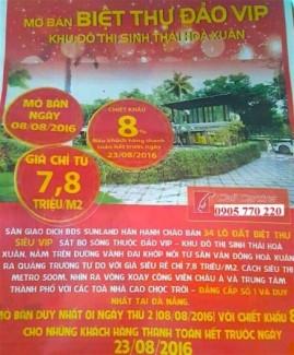 Sunland 8/8 mở bán 34 lô biệt thự b2.1 siêu...