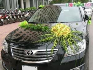 Hoa trang trí xe cô dâu đẹp rẻ - XH012