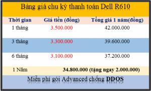 Thuê máy chủ tặng máy chủ Dell R610 - lì xì ngay 2tr khi thanh toán 12 tháng