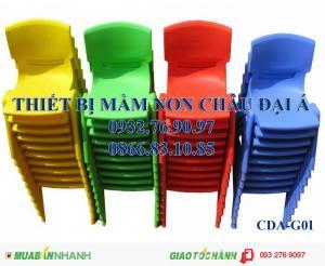 Ghế nhựa đúc nhập khẩu , ghế gỗ chân sắt , ghế mầm non
