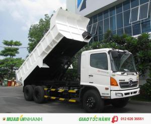 Bán xe ben Hino FM8JNSA lòng thùng ben dài 5m, lãi suất thấp