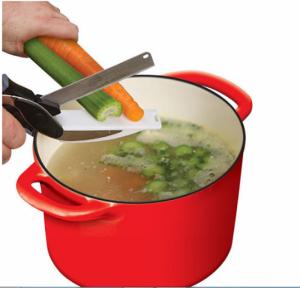 Kéo cắt đồ ăn thông minh kiêm dao thớt 3 trong 1