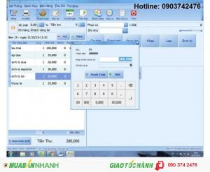 Phần mềm tính tiền giá rẻ cho quán lẫu tại Long An