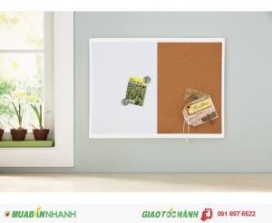 Bảng ghim quartet white frame cork board mhob1723 - ghim ép văn phòng 35-380352q