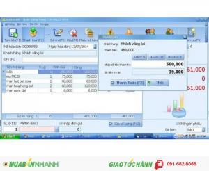 Phần mềm bán hàng quản lý thu chi hàng hóa