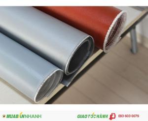 Vải phủ silicone ( Cao su ) cốt sợi thủy tinh