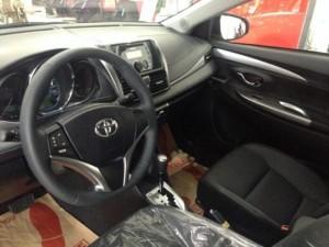 Ưu đãi hấp dẫn Toyota Vios 2016 Số Sàn Mới màu nâu vàng. Mua Trả Góp Chạy Uber Grab chỉ từ 190Tr