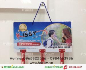 Hanger quảng cáo khẩu trang thương hiệu KISSY