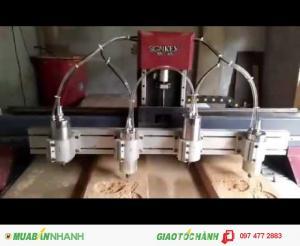 Máy cnc 4 đầu khắc cắt gỗ giá rẻ