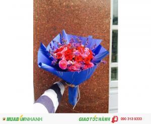 Bó hoa sinh nhật ĐẸP giá SIÊU RẺ - GSN048