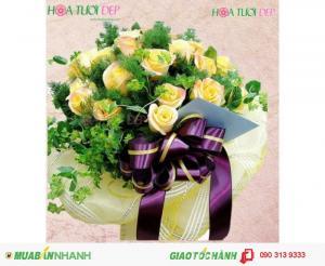 Hoa Tươi Mừng Sinh Nhật - Vàng son gắn kết BSN013