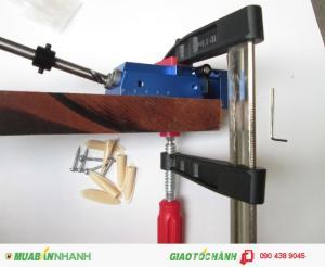 Bộ kẹp dưỡng khoan lỗ xiên/gá khoan tạo lỗ xiên, dùng để tạo lỗ khoan xiên khi ghép 2 tấm gỗ bằng vít
