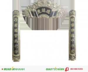 Cuốn Thư,Hoành Phi,Đức Lưu Quang,chất liệu đồng vàng.