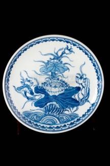 Bộ đồ ăn thờ cúng gốm sứ Bát Tràng - Hoa văn Sen