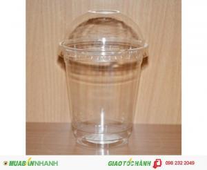 Ly Nhựa Nắp Cầu Pet 360ml,500ml Cho Coffee Trà Sữa Mang Đi In Logo Dễ Thương