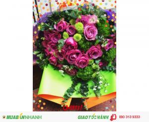 Bó Hoa Tình Yêu - Màu Tím Thủy Chung TY105