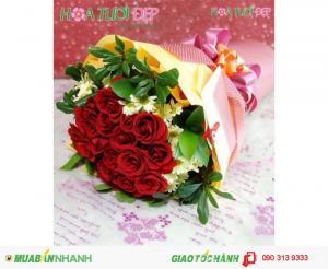 Bó Hoa Tình Yêu  Đẹp Giá Rẻ - TY056