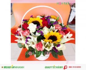Giỏ Hoa Chúc Mừng Siêu Rẻ - CM094