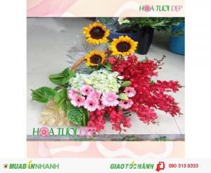 Giỏ Hoa Chúc Mừng Độc Đáo - CM109
