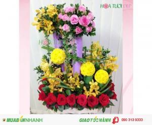 Lẵng Hoa Chúc Mừng Đẹp Nhất - CM091
