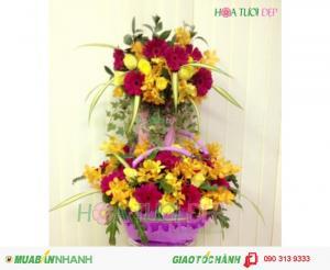 Hoa Chúc Mừng Rực Rỡ Sắc Màu Tươi Sáng - CM087