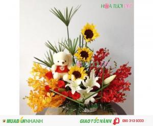 Giỏ Hoa, Quà Sinh Nhật Đẹp - GSN023