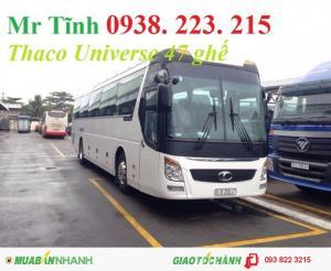 Giá xe khách 45 47 chỗ thaco universe mới nhất, giá xe khách thaco universe tb120s mới nhất