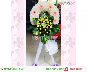 Vòng Hoa Chia Buồn - Hoa Tang Lễ Giá Rẻ TL024
