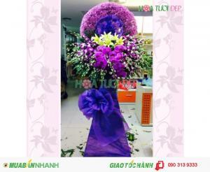 Vòng Hoa Tang Lễ Màu Tím -  TL070
