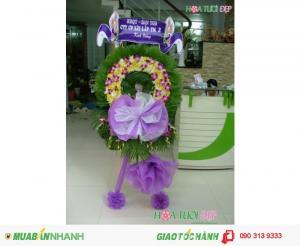 Mẫu vòng hoa viếng đám tang đẹp giá rẻ - TL011