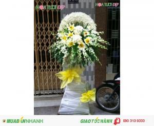 Hoa Viếng Đám Tang Đẹp Cao Cấp TL037