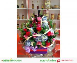 Giỏ Hoa Chúc Mừng Thanh Lịch - CM122